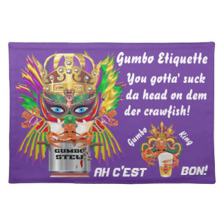 Mardi Gras Gumbo Queen View Hints please Cloth Placemat