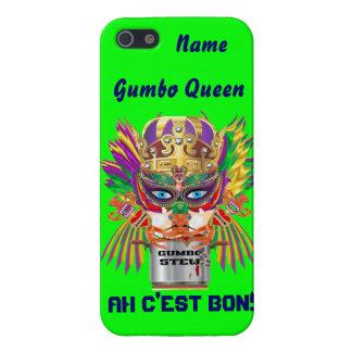 Mardi Gras Gumbo Queen View Hints please iPhone 5/5S Case
