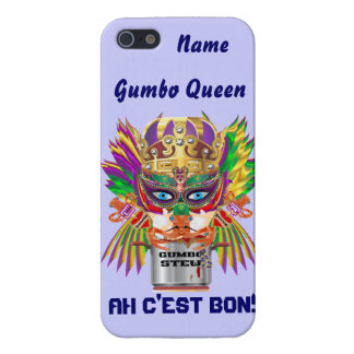 Mardi Gras Gumbo Queen View Hints please iPhone SE/5/5s Cover