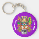 Mardi Gras Gumbo Queen View Hints please Key Chains