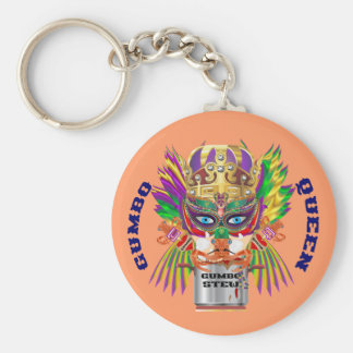 Mardi Gras Gumbo Queen View Hints please Keychain