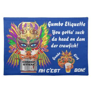 Mardi Gras Gumbo Queen View Hints please Place Mats