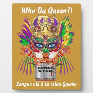 Mardi Gras Gumbo Queen View Hints please Plaque