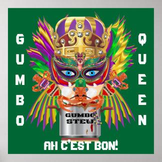 Mardi Gras Gumbo Queen View Hints please Poster