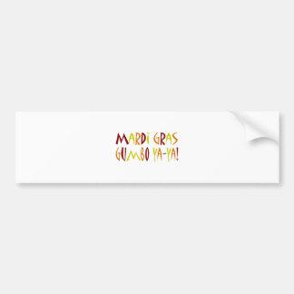 Mardi Gras - Gumbo Ya-Ya! (red, yellow, orange) Bumper Sticker