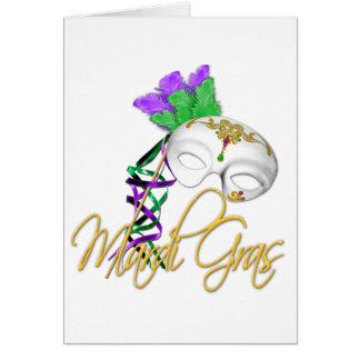 mardi gras half mask card