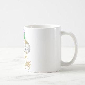 mardi gras half mask coffee mug