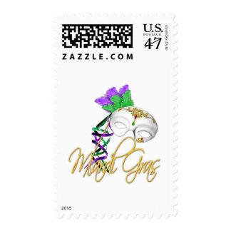 mardi gras half mask stamp