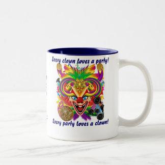 Mardi Gras Halloween  Clown View Hints Please Two-Tone Coffee Mug