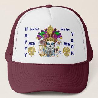 Mardi Gras Happy New Year Please View Notes Trucker Hat
