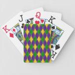 Mardi Gras Harlequin Diamond Pattern Playing Cards