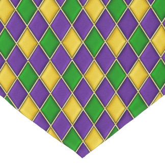 Mardi Gras Harlequin Diamond Pattern Table Runner