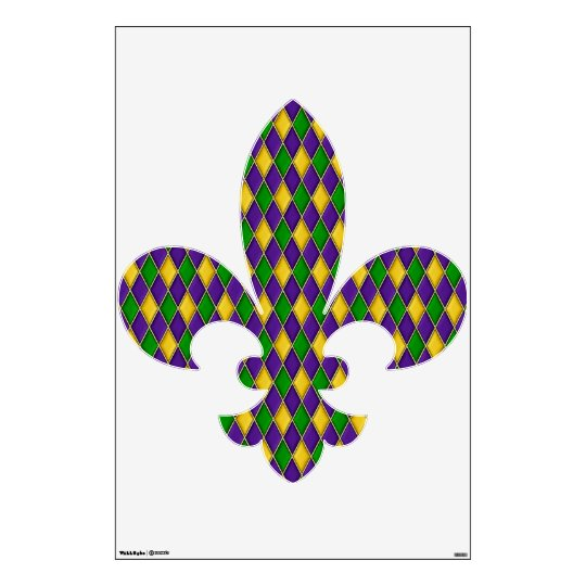 Mardi Gras Harlequin Diamond Pattern Wall Decal