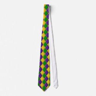 Mardi Gras Harlequin Diamond Tie