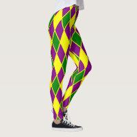 Mardi Gras Harlequin Pattern Mardi-Gras Leggings