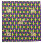 Mardi Gras Harlequin Pattern w/crowns Napkins
