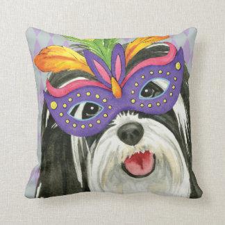 Mardi Gras Havanese Throw Pillow