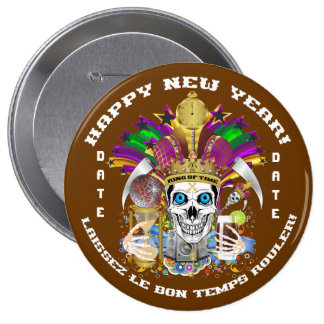 Mardi Gras Holiday Customize View Notes Please Pinback Buttons