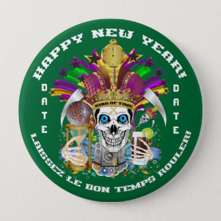 Mardi Gras Holiday Customize View Notes Please Pinback Button
