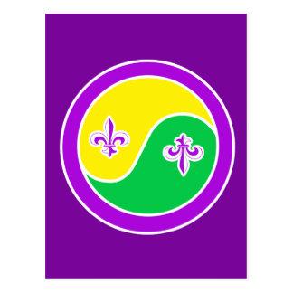Mardi Gras in Balance Postcard