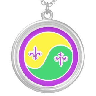Mardi Gras in Balance Yin Yang Necklace