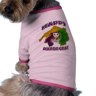 Mardi Gras Indian Mask Pet T-shirt
