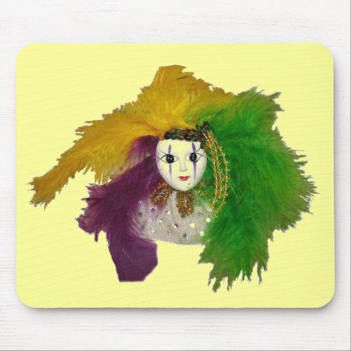 Mardi Gras Indian Mask Mouse Pad