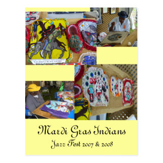 Mardi Gras Indians & Costumes - Post card