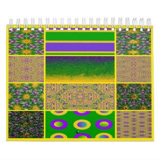Mardi Gras Inspired Graphic Art Calendar