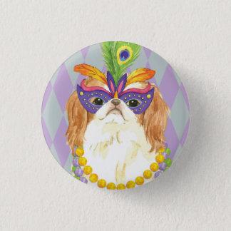 Mardi Gras Japanese Chin Pinback Button