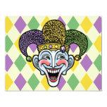 "Mardi Gras Jester 4.25"" X 5.5"" Invitation Card"