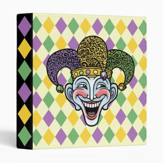 Mardi Gras Jester Vinyl Binders