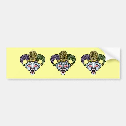 Mardi Gras Jester Bumper Sticker