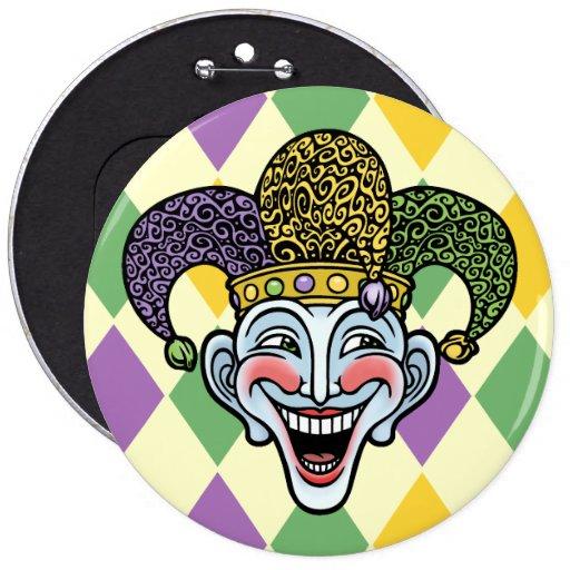 Mardi Gras Jester Buttons