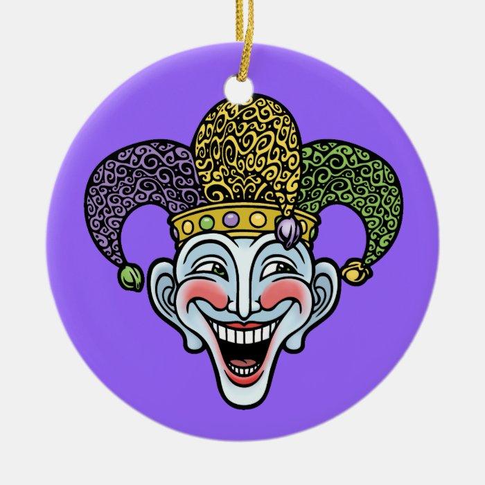 Mardi Gras Jester Ceramic Ornament