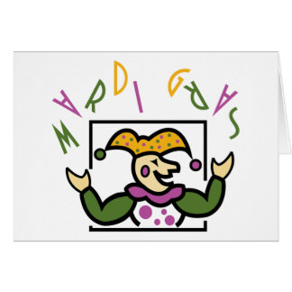 Mardi Gras Jester Greeting Card