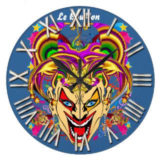 Mardi Gras Jester Joker  view hints please Wall Clock