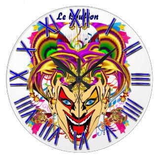 Mardi Gras Jester Joker  view hints please Clock