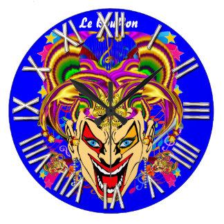 Mardi Gras Jester Joker  view hints please Round Wallclock