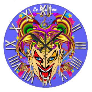 Mardi Gras Jester Joker  view hints please Round Clocks