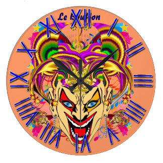 Mardi Gras Jester Joker  view hints please Wallclock