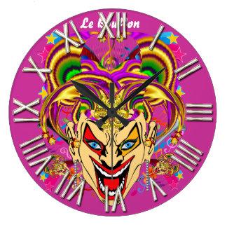 Mardi Gras Jester Joker  view hints please Clocks