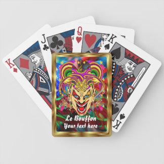 Mardi Gras Jester Joker  view hints please Deck Of Cards