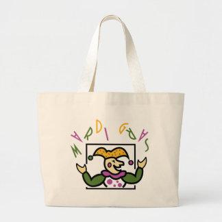Mardi Gras Jester Jumbo Tote Bag