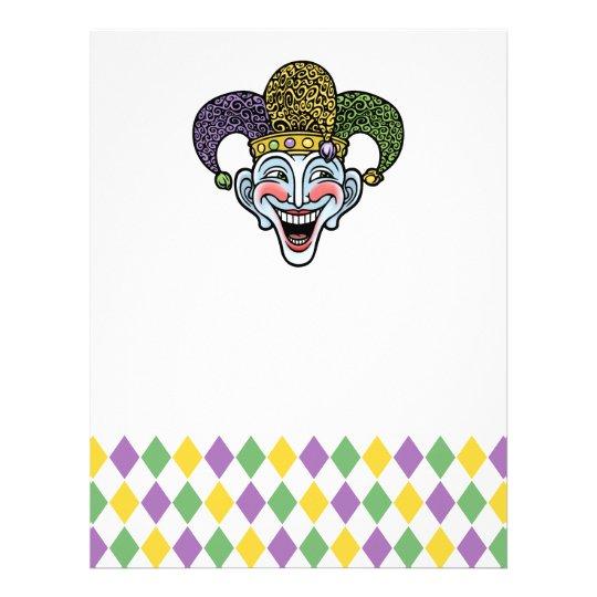 Mardi Gras Jester Letterhead