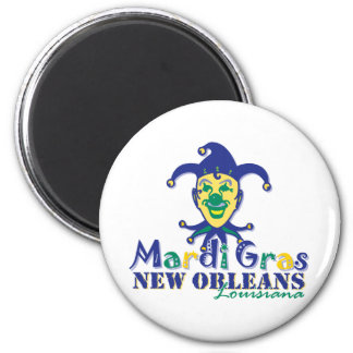 Mardi Gras Jester - NOLA 2 Inch Round Magnet