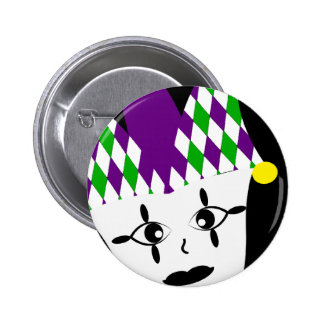 Mardi Gras Jester Party Button