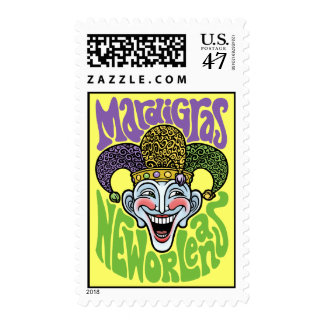 Mardi Gras Jester Postage