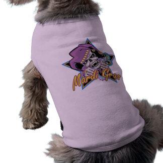 Mardi Gras Jester Skull Doggie Tee Shirt