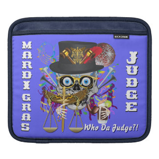 Mardi Gras Judge 30 colors Important view notes iPad Sleeve